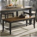 Canadel Champlain - Custom Dining <b>Customizable</b> Bench - Item Number: BEN089033363D18