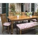 Canadel Champlain - Custom Dining Customizable Table Set - Item Number: TRE0387+BNN0890+5xCNN0225