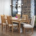 Canadel Champlain Customizable Rectangular Table Set - Item Number: TRE03878+2xCNN0138+4xCNN02250