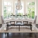 Canadel Champlain - Custom Dining Customizable Table Set - Item Number: TRE04+BAS02+BNN04+2xCNN03+3xCNN00