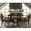 Canadel Champlain - Custom Dining Customizable Rectangular Table Set - Item Number: TRE04280+2xCNN00138+4xCNN05077