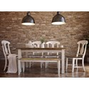 Canadel Champlain - Custom Dining Customizable Table Set with Bench - Item Number: TRE04280+4xCNN0600+BNN4100