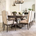 Canadel Champlain - Custom Dining Customizable Table Set - Item Number: TRE0489+BAS0200+2xCAN0310+6xCNN0310