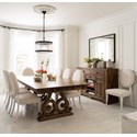 Canadel Champlain - Custom Dining Customizable Table Set - Item Number: TRE0489+BAS02002+8xCHA0507