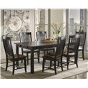 Canadel Champlain - Custom Dining <b>Customizable</b> Rectangular Table Set - Item Number: TRE3878+6xCHA0232