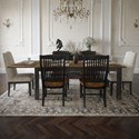 Canadel Champlain - Custom Dining Customizable Rectangular Table Set - Item Number: TRE4280+2xCNN310A+4xCNN232
