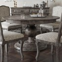 Canadel Champlain - Custom Dining Customizable Round Dining Table - Item Number: TRN060600808DHQNF+BAS