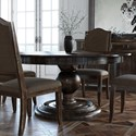 Canadel Champlain - Custom Dining Customizable Round Dining Table - Item Number: TRN060603030DHQNF+BAS