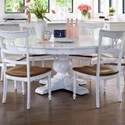 Canadel Champlain - Custom Dining Customizable Round Dining Table - Item Number: TRN072725050DBTNF+BAS
