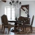 Canadel Champlain - Custom Dining Customizable Round Dining Table Set - Item Number: TRN6060+BAS+4xCNN0315