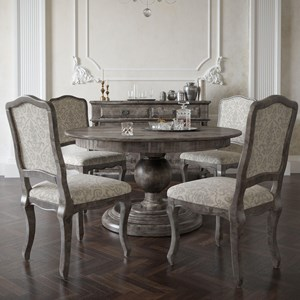 Customizable Round Dining Table Set