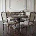 Canadel Champlain - Custom Dining Customizable Round Dining Table Set - Item Number: TRN6060+BAS+4xCNN0316