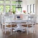 Canadel Champlain - Custom Dining Customizable Round Dining Table Set - Item Number: TRN7272+BAS+6xCNN6001