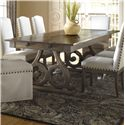Canadel Champlain - Custom Dining <b>Customizable</b> Rectangular Table - Item Number: TRE042924949DBRN1+BAS