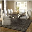 Canadel Champlain - Custom Dining <b>Customizable</b> Rectangular Table Set - Item Number: TRE4292+BAS+2xCHA5048+6xCHA5046