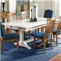 Canadel Champlain - Custom Dining <b>Customizable</b> Rectangular Table - Item Number: TRE042806262DXMTF+BAS