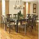 Canadel Champlain - Custom Dining <b>Customizable</b> Square Table Set - Item Number: TSQ6060+8xCHA7102