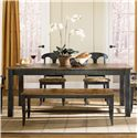 Canadel Champlain - Custom Dining Customizable Rectangular Table with Legs