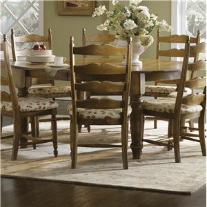 Canadel Champlain - Custom Dining <b>Customizable</b> Round Table with Legs