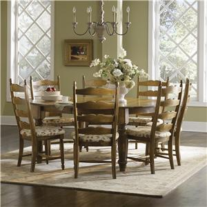 Canadel Champlain - Custom Dining <b>Customizable</b> Round Table Set