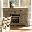 Canadel Champlain - Custom Dining Customizable Buffet with Bottle Supports