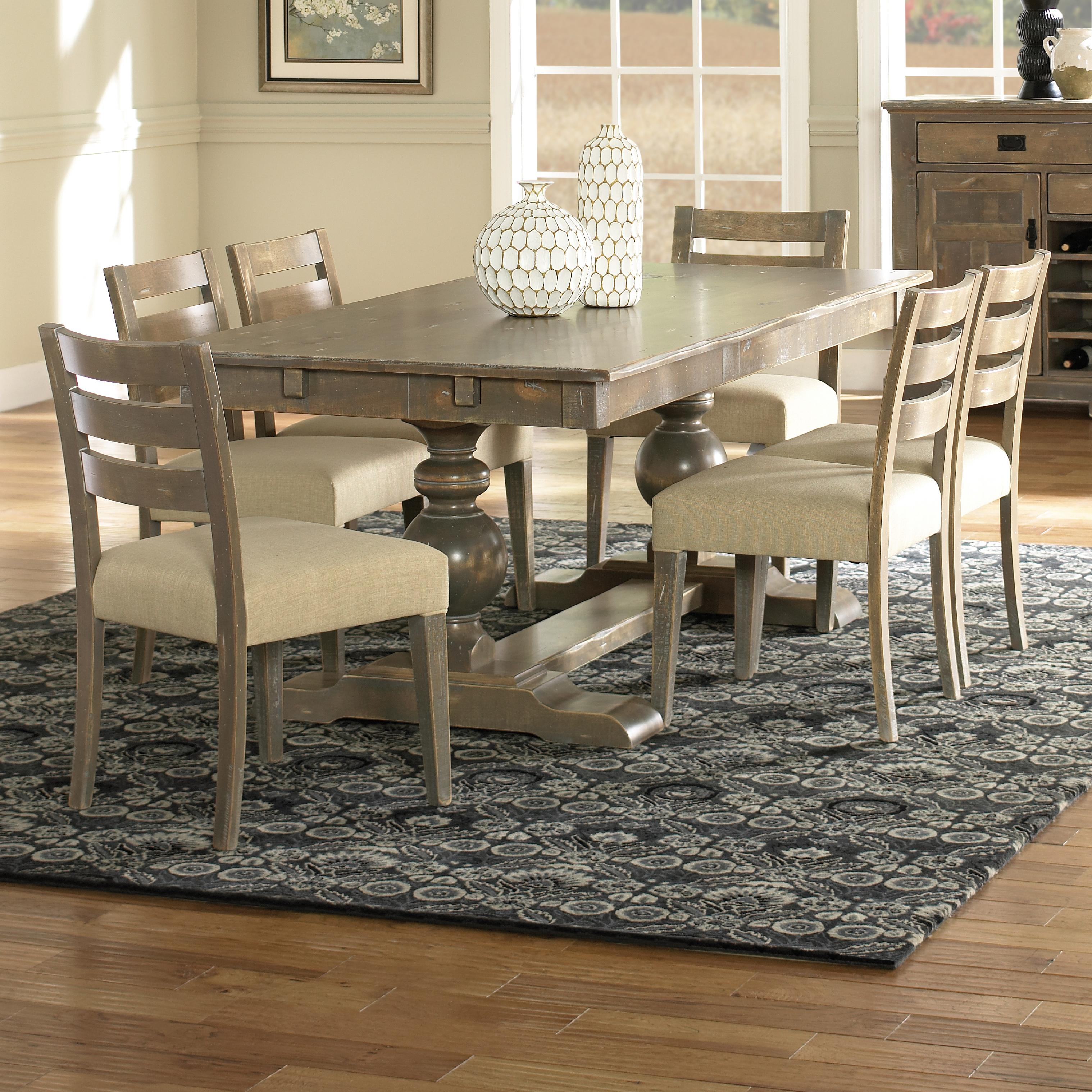 Champlain - Custom Dining Customizable Rectangular Table Set by Canadel at Saugerties Furniture Mart
