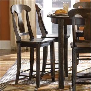 "Canadel Champlain - Custom Dining <b>Customizable</b> Fixed 24"" Bar Stool"