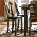 "Canadel Champlain - Custom Dining <b>Customizable</b> Fixed 24"" Bar Stool - Item Number: STO006001818DELF"
