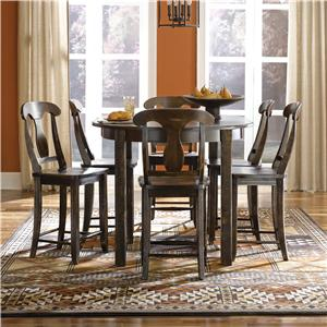 Canadel Champlain - Custom Dining <b>Customizable</b> Oval Counter Table Set