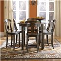 Canadel Champlain - Custom Dining <b>Customizable</b> Oval Counter Table Set - Item Number: TRN4444+6xSTO0600