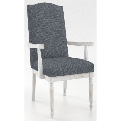 Champlain - Custom Dining Customizable Arm Chair by Canadel at Saugerties Furniture Mart