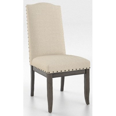 Champlain - Custom Dining Customizable Side Chair with Nailhead Trim by Canadel at Jordan's Home Furnishings