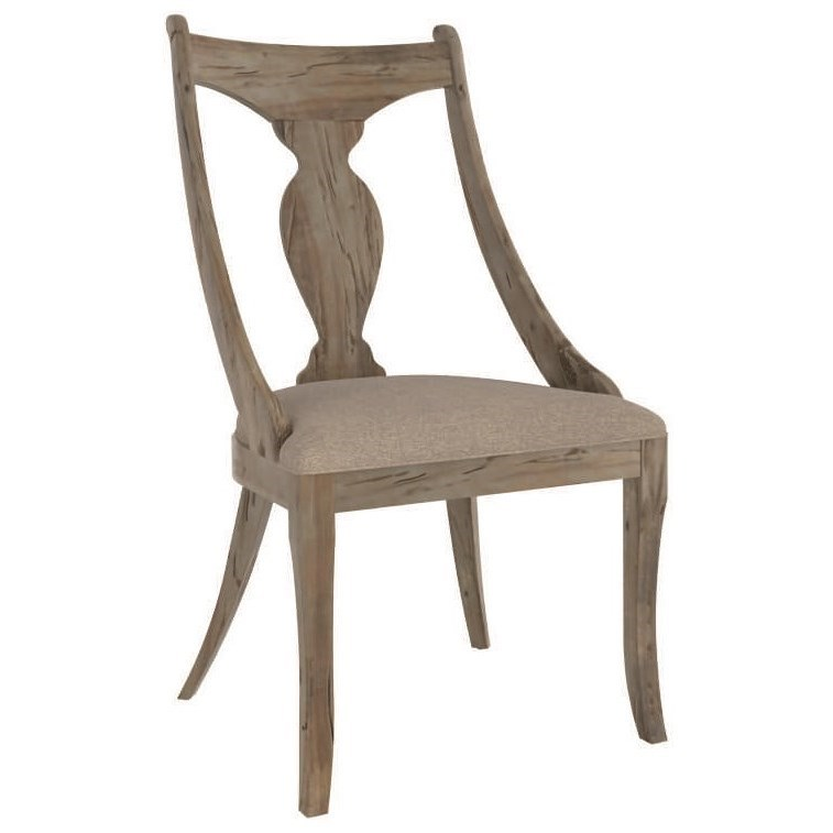 Champlain - Custom Dining Customizable Upholstered Dining Chair by Canadel at Jordan's Home Furnishings