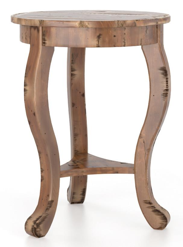 Champlain - Living <b>Customizable</b> Round End Table by Canadel at Saugerties Furniture Mart