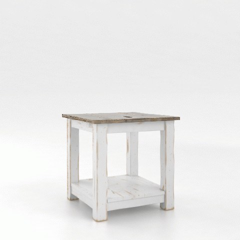 Champlain - Living Customizable End Table by Canadel at Saugerties Furniture Mart
