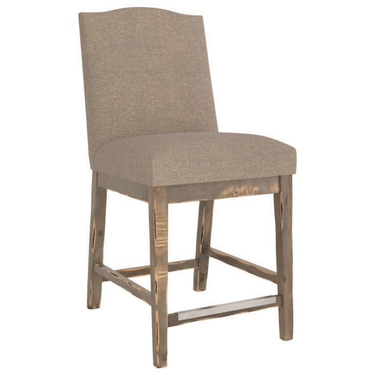 Champlain - Custom Dining Customizable Upholstered Counter Stool by Canadel at Jordan's Home Furnishings