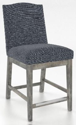 Champlain - Custom Dining Customizable Upholstered Counter Stool by Canadel at Johnny Janosik