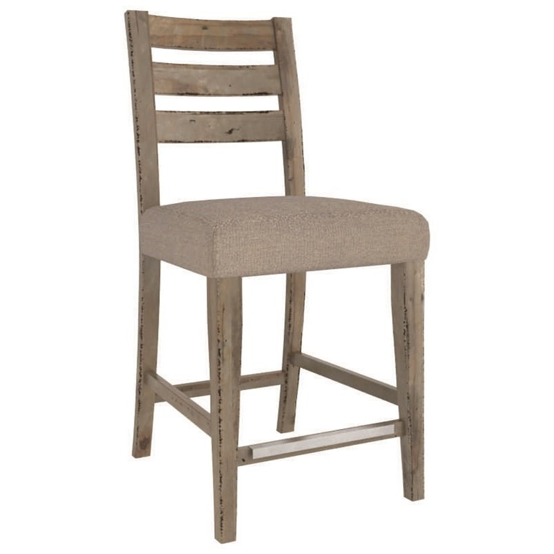 """Champlain - Custom Dining Customizable 24"""" Uph Fixed Stool by Canadel at Saugerties Furniture Mart"""