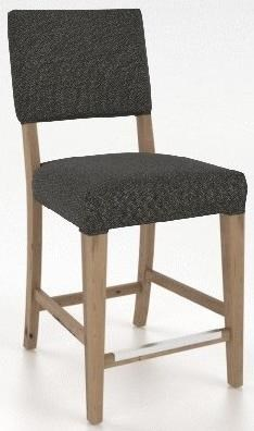 """Champlain - Custom Dining Customizable 26"""" Upholstered Stool by Canadel at Saugerties Furniture Mart"""