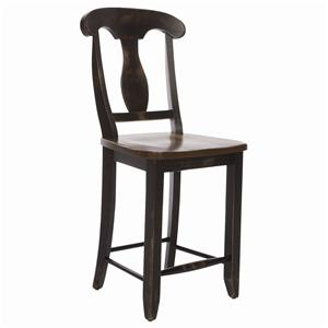 <b>Customizable</b> Splat Back Bar Stool
