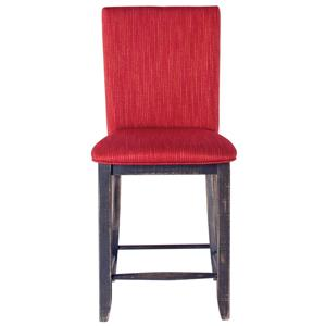 "Canadel Champlain - Custom Dining <b>Customizable</b> 24"" Uph Fixed Stool"