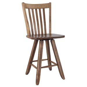 "Canadel Champlain - Custom Dining <b>Customizable</b> 24"" Swivel Bar Stool"