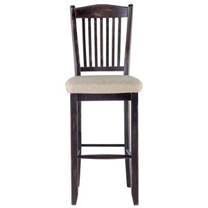 "Canadel Champlain - Custom Dining <b>Customizable</b> 30"" Slat Back Bar Stool"