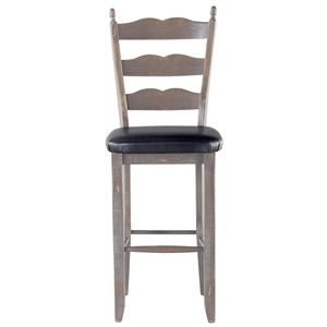 Canadel Champlain - Custom Dining <b>Customizable</b> Ladderback Bar Stool