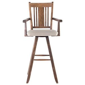 "Canadel Champlain - Custom Dining <b>Customizable</b> 30"" Uph Swivel Bar Stool"