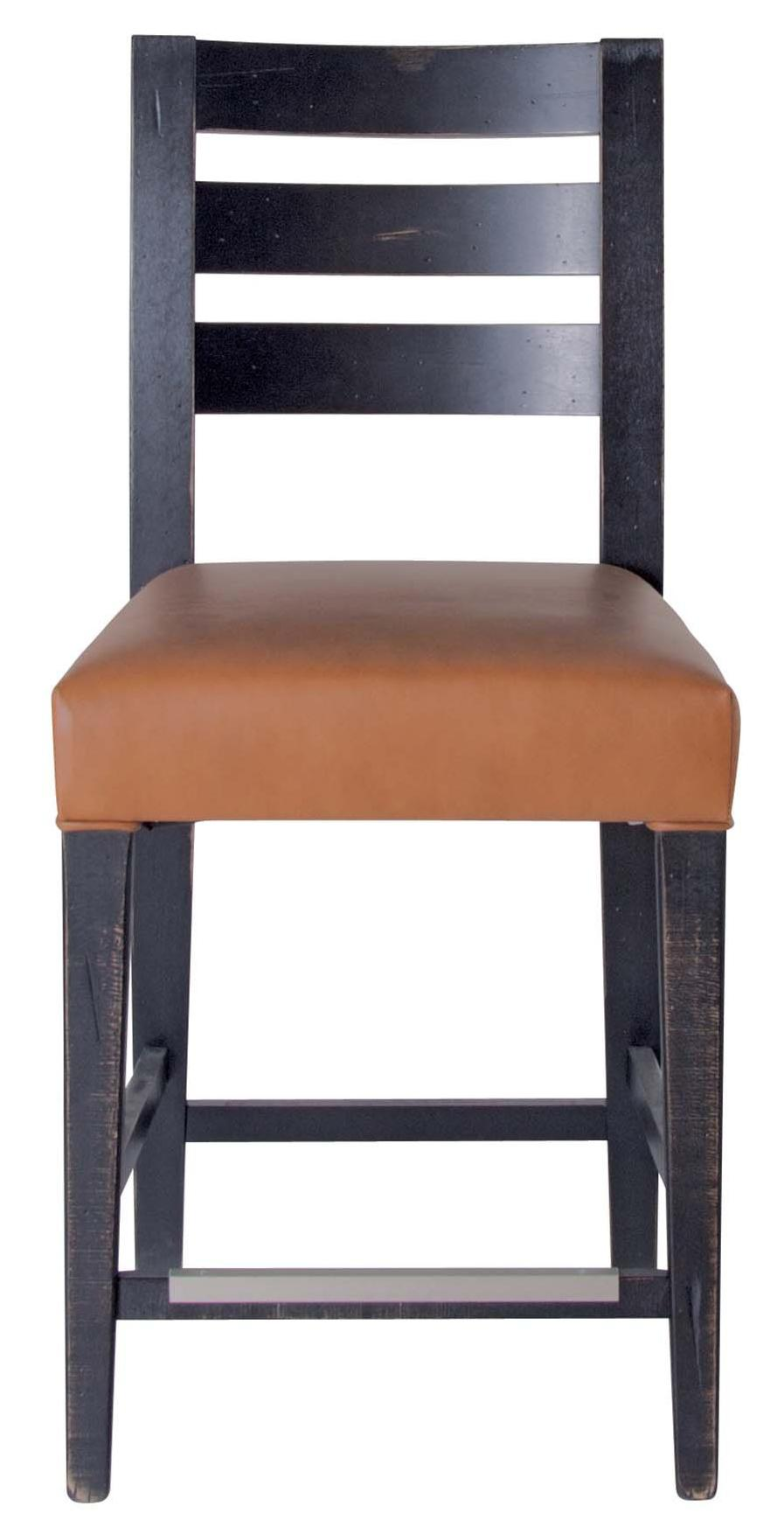 "Champlain - Custom Dining Customizable 24"" Uph Fixed Stool by Canadel at Saugerties Furniture Mart"