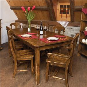 Canadel Champlain - Custom Dining <b>Customizable</b> Table and Chair Set