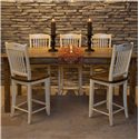 Canadel Champlain - Custom Dining <b>Customizable</b> Gathering Height Table - Item Number: TAB 0-3878-HE-NF