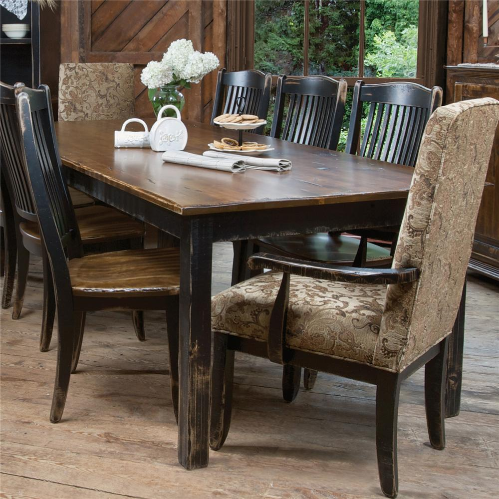 Canadel champlain custom dining customizable traditional rectangular dining table darvin - Lazy boy dining room sets ...