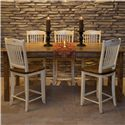 Canadel Champlain - Custom Dining <b>Customizable</b> Pub Table and Chair Set - Item Number: TAB3878-HE-NF+5xSTO232-EL-F